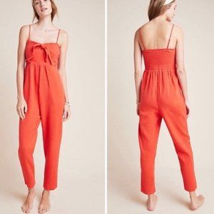 NWT Anthropologie Isabel Tie Front Jumpsuit M